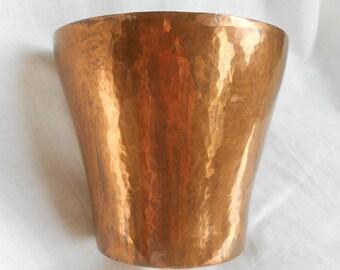 Arts & Crafts Vase, Vintage Copper Plant Pot, Hand Crafted, 1920s, 1930s