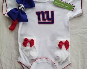 new york giants baby girl outfit/newborn ny giants/ny giants baby/ny giants baby girl shower gift/ny giants girl/baby ny giants/ny giants