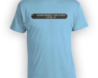 21st Birthday Gift Ideas For Him Video Game Shirt Gamer T Shirt Nerd Clothing Geek Clothes Gaming TShirt Custom Age Mens Ladies Tee - BG521