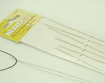 A Pack of 6 Beadsmith Big Eye Beading Needles Jewelry Supplies Beading Tools Jewellery Making