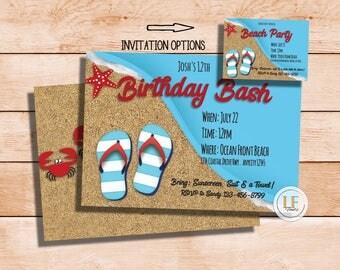 Beach Bash Invitation