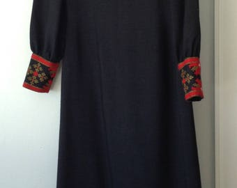 1960s Vintage Black Maxi Dress by Levantis of Greece