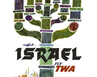 Israel Travel Poster - Vintage Travel Print Art - Home Decor