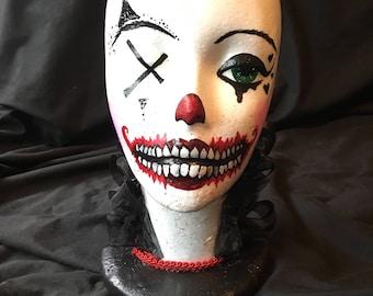 Creepy Clown Wig Head