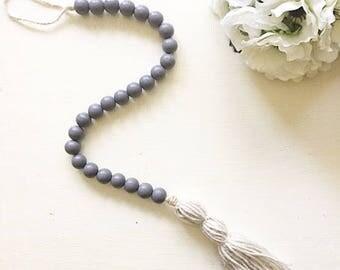 wood bead garland, tassel garland, wooden bead garland, garland, wood beads, bead garland,boho decor,curtain tie back, rustic decor, tassel