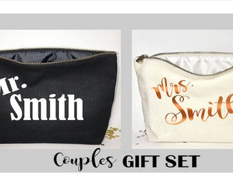 Couples Personalized Gift -  Couples Travel bag - Anniversary gift- - unique gift For him for her for couple