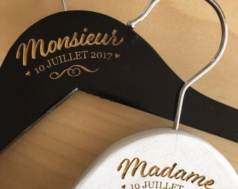 Personalized Mr and Mrs hangers