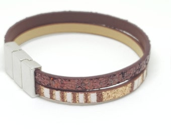 """MAGIC BROWN"" leather strap"