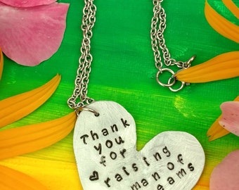 Thank You for Raising the Man of my Dreams Necklace