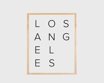 Los Angeles Print, Los Angeles Poster, City Print, Minimalist Poster, Wall Art, Typography Print, Printable, LA Print, Los Angeles