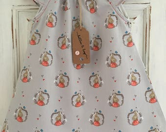 dresses, baby girl dresses, girls dresses, girls clothing, baby girls clothing, grey dresses, peter rabbit, party dress, gifts for girls