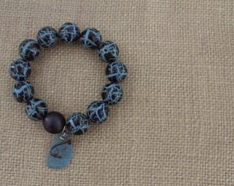 Bead Bracelet / Turquoise Bracelet / Black Bracelet / Charm Bracelet