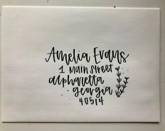 Custom Hand-lettered Envelopes