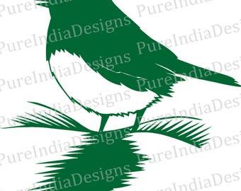 Bird Svg,Laser, Design Cutout, Vector art, Cricut, Silhouette Cameo, instant download, Digital Cut, Print Files, Svg, DXF, EPS, Wall Decal