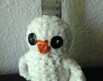 Super soft crocheted baby owl