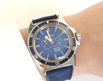 Vostok Amphibia Komandirskie Special Edition with USSR dial, Russian watch, Chistopol, mens watch, automatic watch