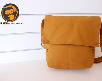 Sale - Mustard Yellow Canvas Bag - diaper bag, tote, purse, cross body bag, stylish - Mercury