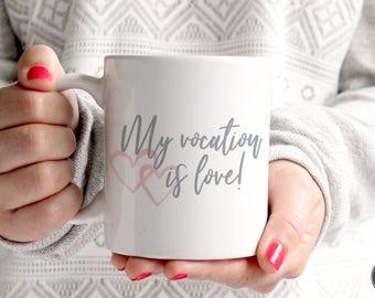 St. Therese Mug - Catholic Mug - Catholic Gifts - Saint Mug - Christian Mug - Vocations Mug - St. Therese of Lisieux