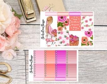 Flowers Always Weekly Kit Planner Stickers - For Erin Condren Life Planner