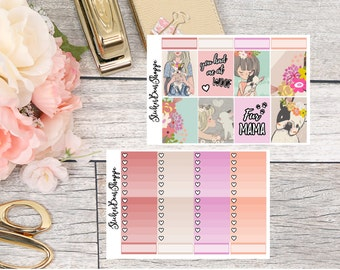 Puppy Love Weekly Kit Planner Stickers - For Erin Condren Life Planner