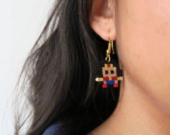 Wonder Woman hama beads earrings