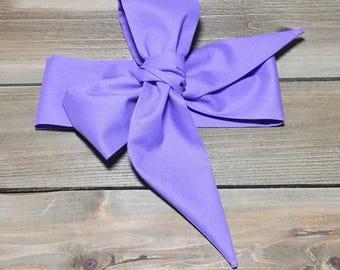Wisteria Headwrap- Purple Head Wrap; Purple Bow; Purple Headband; Baby Head Wrap; Head Wrap; Headwrap; Mommy and Me; Baby Headband; Baby Bow
