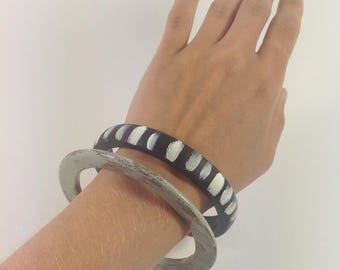 TRIBAL BANGLES // wooden // eco jewellery