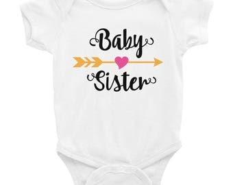 Baby Sister Infant Bodysuit - Baby Sister Shirt - Little Sister Shirt - Baby Sister Bodysuit - Little Sister Bodysuit - Big Middle Little Si