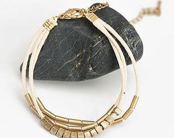 Gold & Beige bracelet