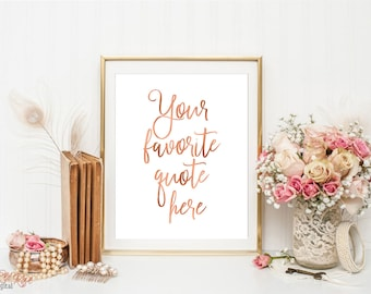 Rose gold decor | Etsy