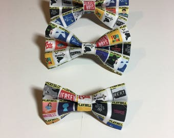 Playbill Broadway Shows Dog Bow Tie