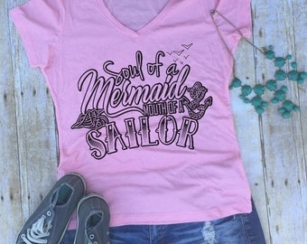 soul of a mermaid mouth of a sailor shirt funny mermaid shirt funny profanity shirt but I cuss a little i've got a good heart but this mouth