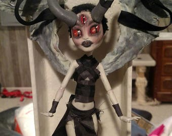 OOAK Monster High Doll || Thana (POSABLE WINGS)
