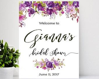 Bridal shower, Bridal Shower Welcome Sign, Bridal Shower sign, Bridal Shower decoration, welcome wedding sign - US_BS0801