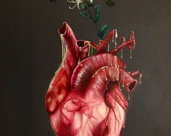 "fine art print of original oil & acrylic painting ""sweetheart"" (2018)"