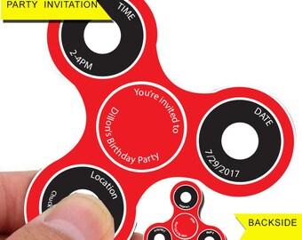 fidget spinner, fidget spinner battle, fidget spinner party, fidget spinner invitation, custom fidget spinner, fidget spinner toy, birthday,