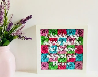 Shadow Box Frame - Flower Shadow Box - Mother's Day From Daughter - Mom Picture Frame