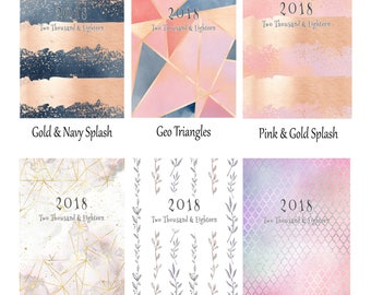 2018 week to view vertical planner diary various covers to choose!