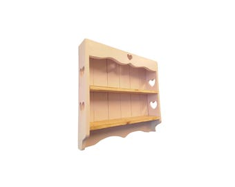 English Country Solid Redwood Pine wall shelf, display shelf, wall storage, wall rack,shelving unit, shelf unit