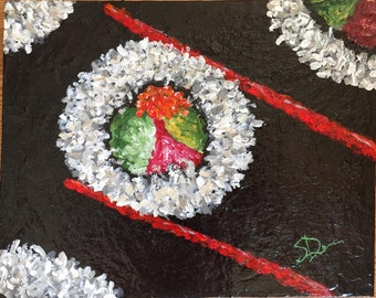 "Acrylic Painting ""Hot Like Wasabi"""