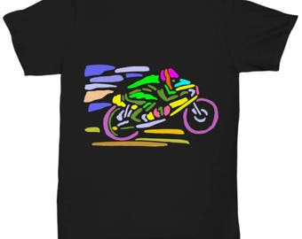 MOTORCYCLE TSHIRT! Born To Ride, Forced To Work! Funny Biker Black Tee is a Cool and Wearable Treasure Tee! Stylish Motocross Fan T-Shirt