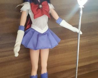 Rare Sailor Saturn Outer Senshi Sailor Moon Figure Doll Scout Manga Anime toy