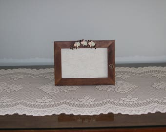 Frame with Floral Spray