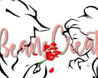Beauty & The Beast SVG