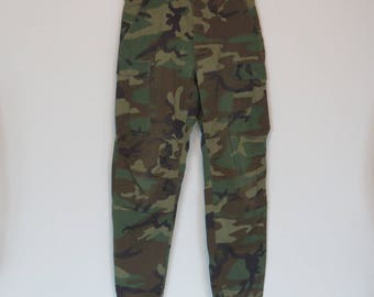 Vintage WOODLAND Camo Army Pants