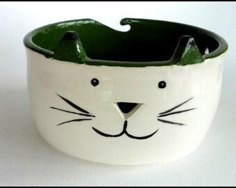 Ceramic Yarn Bowl, Knitting Bowl, Wool Bowl, Crochet Bowl, Cat Yarn Bowl, Cat Wool Bowl, Yarn Bowl, Crafts, Needlecrafts, Knitters Gift, Cat