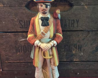 McCormick Whiskey Pirate Liquor Decanter, 1/2 Pint - 1972