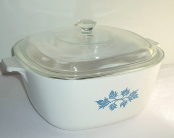 Casserole dish PYROFLAM Nr.2 ceramic glass with lid, square, 60, design, vintage, casserole, oven, pot, Pan, cooking