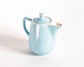 Melitta Coffee Pot Pastel Blue, Mid-century Coffee Maker, Vintage Tea Pot, Vintage Kitchenware, West German Ceramic Coffee Pot, 60's Design