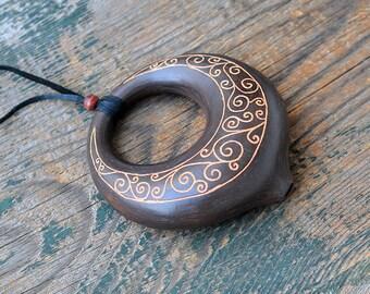 """Ocarina """"Moon"""" / ceramic flute / C major  / handmade ocarina"""